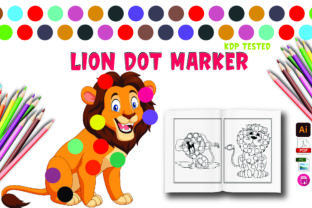 Lion Dot Marker Activity for Kids Graphic Coloring Pages & Books Kids By Moonz Coloring
