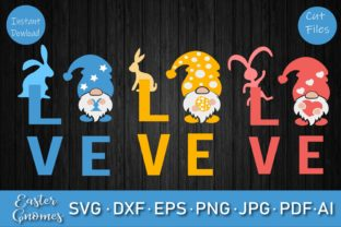 Love Easter Gnomes SVG Bundle Graphic Crafts By Rizu Designs