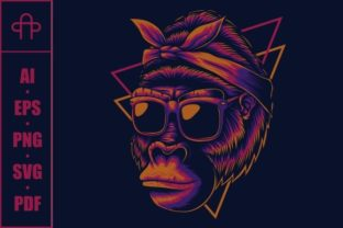 Print on Demand: Mother Gorilla Eyeglasses Graphic Illustrations By Andypp