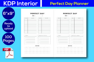 Print on Demand: Perfect Day Planner KDP Interior Graphic KDP Interiors By Iqra Graphics Design