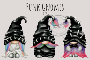 Print on Demand: Punk Biker Gnome Clipart Graphic Illustrations By Celebrately Graphics
