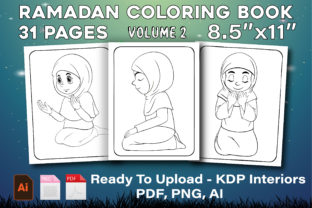 Print on Demand: Ramadan Coloring Pages - KDP Interiors 2 Graphic KDP Interiors By Family Color
