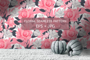 Roses and Butterflies Graphic Patterns By kazakova_o