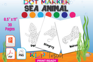 Sea Animal Dot Marker Coloring Pages Graphic KDP Interiors By GraphicTech360