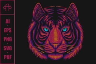 Print on Demand: Tiger Head Vector Illustration Graphic Illustrations By Andypp