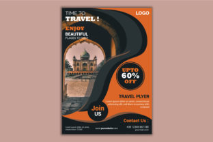 Travel Flyer Design Template Graphic Print Templates By TEAM XIVECT