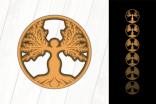 Print on Demand: Tree of Life Graphic 3D SVG By MSTD