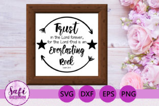 Print on Demand: Trust in the Lord Verse SVG DXF EPS PNG Graphic Crafts By Safi Designs