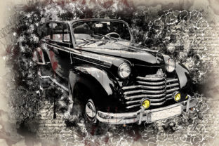 Print on Demand: Vintage Car Printables 300 Dpi Pack 31 Graphic Illustrations By The leaves river