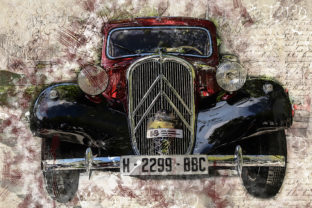 Print on Demand: Vintage Car Printables 300 Dpi Pack 32 Graphic Illustrations By The leaves river