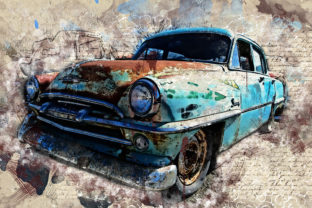 Print on Demand: Vintage Car Printables 300 Dpi Pack 33 Graphic Illustrations By The leaves river