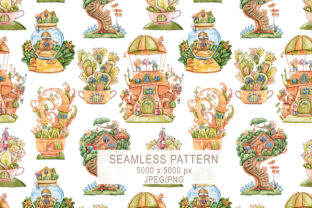 Print on Demand: Watercolor Kids Seamless Pattern Graphic Patterns By Tiana Geo