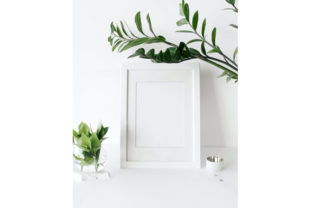 Print on Demand: White Frame Mockup Graphic Product Mockups By CapeAirForce