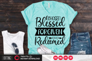 Print on Demand: Chosen Blessed Forgiven Redeemed Svg Graphic Crafts By PrintableSvg
