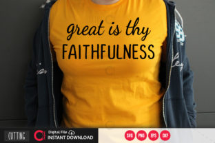 Print on Demand: Great is Thy Faithfulness Svg Graphic Crafts By PrintableSvg
