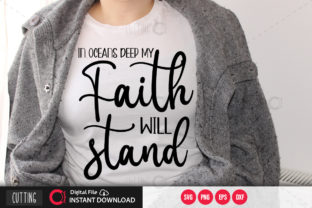 Print on Demand: In Oceans Deep My Faith Will Stand Svg Graphic Crafts By PrintableSvg