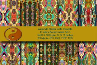 Print on Demand: 10 Abay Backs Graphic Backgrounds By Zaimfuls Mystic Arts