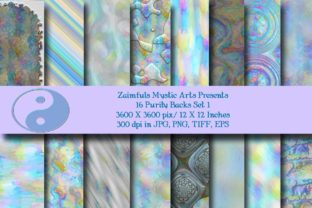 Print on Demand: 16 Purity Backs Graphic Backgrounds By Zaimfuls Mystic Arts