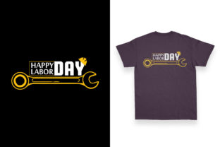 Print on Demand: 1st May T-shirt Design for Labor Day Graphic Print Templates By ivect