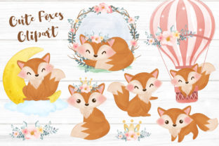 Print on Demand: Adorable Fox Cliparts Set for Nursery Graphic Illustrations By DrawStudio1988