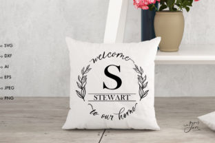 Print on Demand: Family Monogram SVG Welcome Svg Graphic Crafts By Paperjamlab