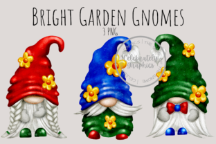 Garden Gnome Bright Colours Clipart Graphic Illustrations By Celebrately Graphics