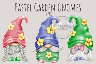 Garden Gnome Pastel Colours Clipart Graphic Illustrations By Celebrately Graphics