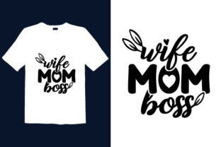 Print on Demand: Mother's Day T-shirt Design 025 Graphic Print Templates By graphicdabir