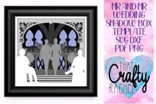 Mr and Mr Wedding Shadow Box Template Graphic 3D Shadow Box By That Crafty Rachel