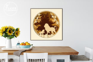 Print on Demand: Multilayer Cut File PANEL LION Graphic 3D SVG By LaserCutano 6