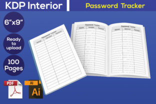Print on Demand: Password Tracker Notebook Interior Graphic KDP Interiors By Iqra Graphics Design
