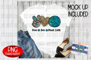 Print on Demand: Peace Love Planet Earth - Sublimation Graphic Illustrations By Lori Lou Designs