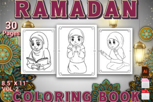 Print on Demand: Ramadan Coloring Book for Kid's Volume 2 Graphic KDP Interiors By Duaa Store