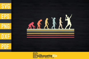 Print on Demand: Tennis Evolution Graphic Print Templates By Silhouettefile