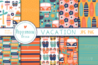 Print on Demand: Vacation Paper Set Graphic Patterns By poppymoondesign