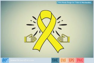 Yellow Ribbon Graphic Crafts By HeavenFair