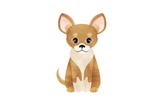 Watercolor Chihuahua Dogs Craft Cut File By Creative Fabrica Crafts