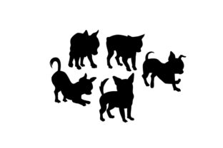 Silhouette of Chihuahuas Dogs Craft Cut File By Creative Fabrica Crafts