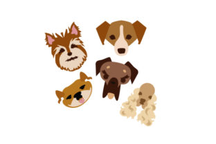 Dog Faces Dogs Craft Cut File By Creative Fabrica Crafts