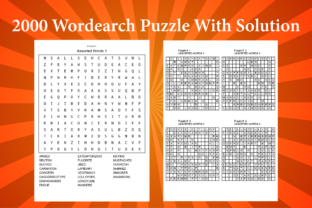 2000 Word Search Puzzle Book with Solution Graphic Coloring Pages & Books Kids By Creative Color Desigen