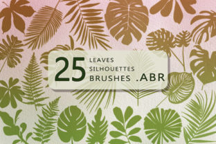 Print on Demand: 25 Leaves Silhouettes  .ABR Brushes Graphic Brushes By Светлана Зиновьева