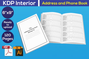 Print on Demand: Address and Phone Book KDP Interior Graphic KDP Interiors By Iqra Graphics Design