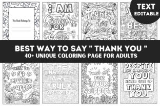 Adult Thank You Quotes Coloring Interior Graphic Coloring Pages & Books Adults By Leos Designs