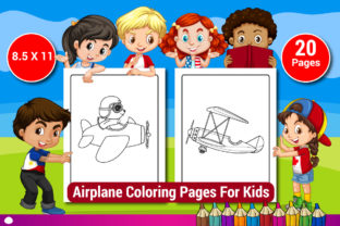 Airplane Coloring Pages for Kids Graphic Coloring Pages & Books Kids By Sharif54