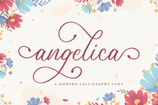 Print on Demand: Angelica Script & Handwritten Font By NissaStudio