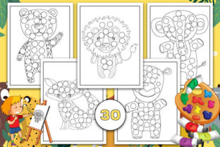 Print on Demand: Animals Dot Markers Activity Book Graphic Coloring Pages & Books Kids By Trend Color