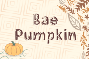 Print on Demand: Bae Pumpkin Display Font By nuraisyahamalia1729