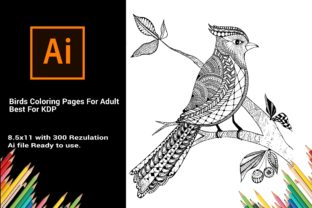Bird Coloring Page Design for Adult KDP Graphic KDP Interiors By DigitalMGoods