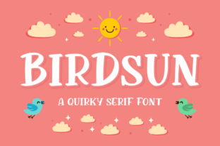 Print on Demand: Birdsun Display Font By FatmaStudio