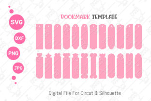 Print on Demand: Bookmark Template SVG Bookmark Label Tag Graphic Illustrations By CRStocker